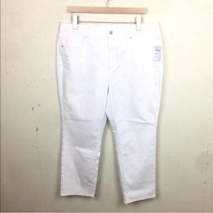 Coldwater Creek White Shaping Ankle Jeans 16P